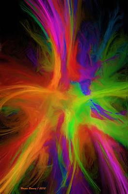 Colour Explosion Art Print by Wayne Bonney