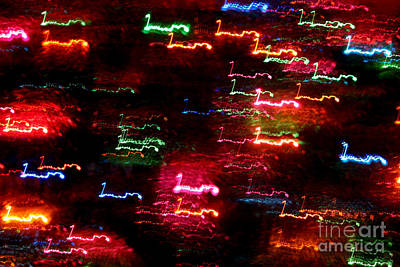 Photograph - Colour Light Abstraction by Susan Stevenson