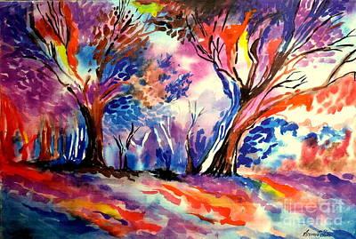 Coloured Leaves Original by Sumit Jain