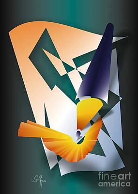 Art Print featuring the digital art Coloured Pencil by Leo Symon