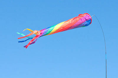 Kite Wall Art - Photograph - Colourful Flag by Tom Gowanlock
