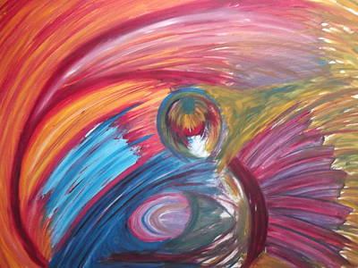 Colourful Mess Art Print by Sharon Tuff