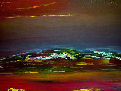 Painting - Colourful Mountain by David Hatton