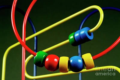 Abacus Photograph - Colourful Toy Abacus With Bright Beads by Sami Sarkis