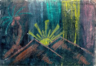 Mixed Media - Colours In Black by Poornima M