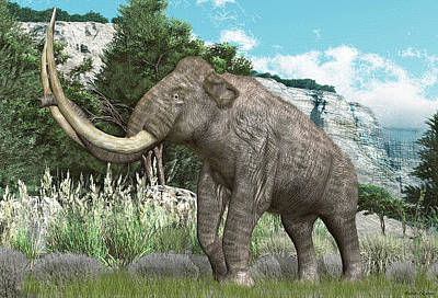 Digital Art - Columbian Mammoth by Walter Colvin