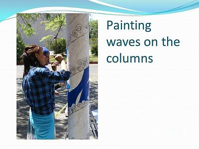 Painting - Column Painting by Carol Rashawnna Williams