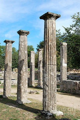 Digital Art - Columns At Olympia Greece by Eva Kaufman