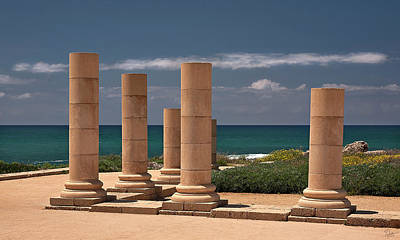 Photograph - Columns By The Sea by Endre Balogh