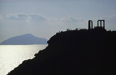 Sounion Photograph - Columns Of The Temple Of Poseidon Rise by James P. Blair