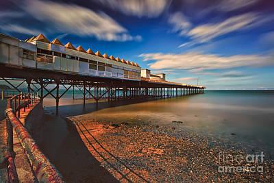 Rail Digital Art - Colwyn Pier by Adrian Evans