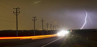 Come Into The Light Lightning Strike Panorama Art Print by James BO  Insogna