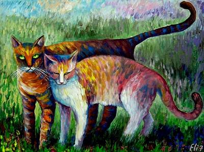 Come To See My Parents Art Print by Elisheva Nesis