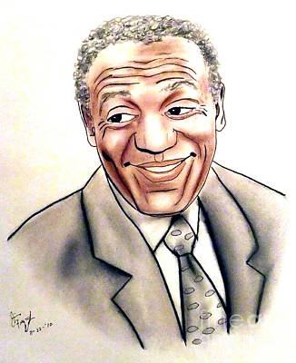 Comedian And Actor  Bill Cosby Print by Jim Fitzpatrick