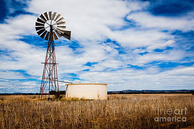 Ecology Photograph - Comet Windmill And Clouds by John Buxton