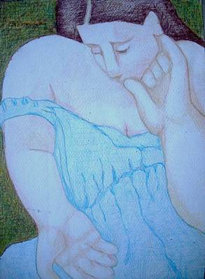 Drawing - Comforting Lap by Diane montana Jansson