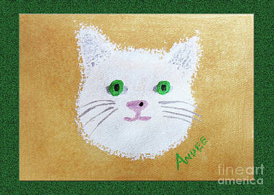 Cat Painting - Comic Kitty by Andee Design
