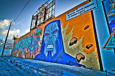 Comic Villain In Miami Wynwood Art Print by Andres Leon