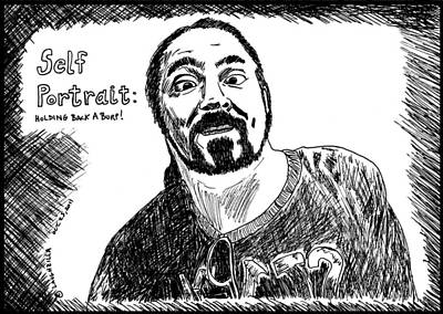 Thedailydose.com Drawing - Comical Self Portrait by Yasha Harari