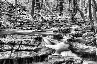 Photograph - Coming Down Bw by JC Findley