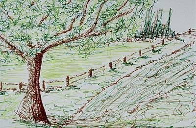Drawing - Coming Home by Lesa Weller