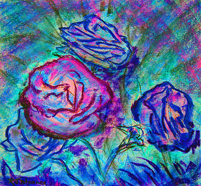 Coming Up Roses Art Print by Richard James Digance