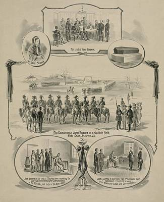 Commemorative Print Depicting The Trial Art Print by Everett