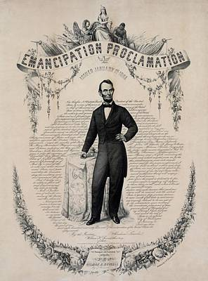 Commemorative Print Of Abraham Lincoln Art Print by Everett
