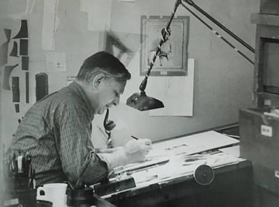 Artist Working Photograph - Commercial Artist  by Bill Joseph  Markowski
