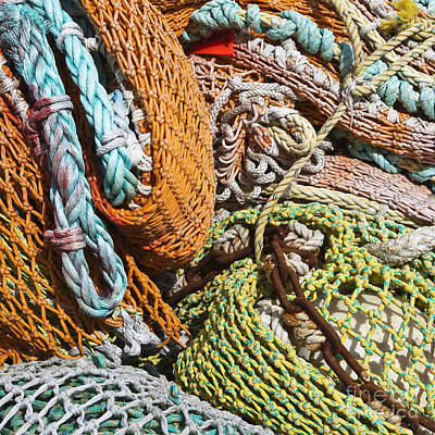 Commercial Fishing Nets And Rope Art Print by Paul Edmondson