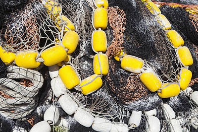 Netting Photograph - Commercial Fishing Nets by Paul Edmondson