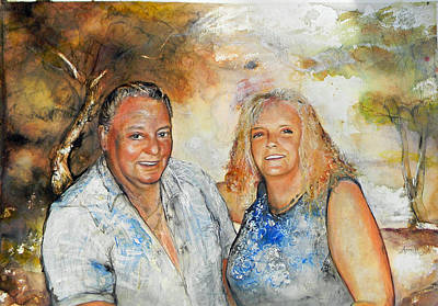 Painting - Commission  by Anne-D Mejaki - Art About You productions