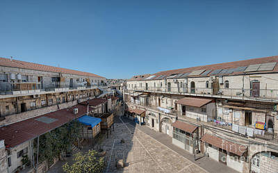 Ancient Apartments Photograph - Communal Courtyard In Mid-eastern Apartment Complex by Noam Armonn
