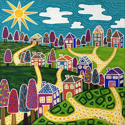 Neighbouring Painting - Community by Lisa Frances Judd