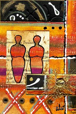 Companion Mixed Media - Companions I by Angela L Walker