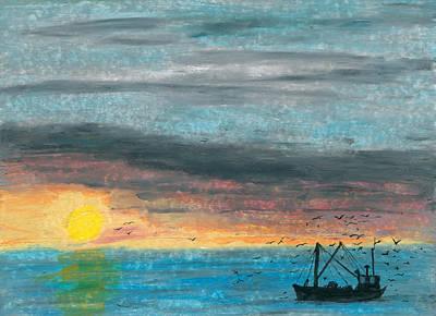 Companions Of The Fishermen Art Print by R Kyllo