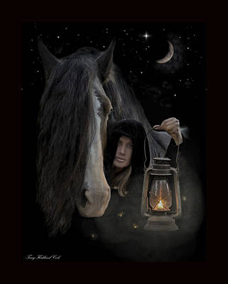 Lantern Digital Art - Companions Of The Night by Terry Kirkland Cook