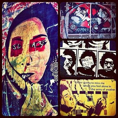 Expression Wall Art - Photograph - Compilation Of Street Art From Recent by Kendra Wright