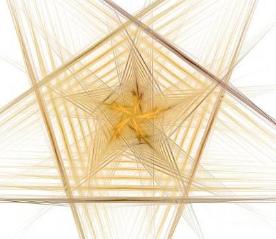 Fractal Geometry Digital Art - Complex Pentagon by Yali Shi