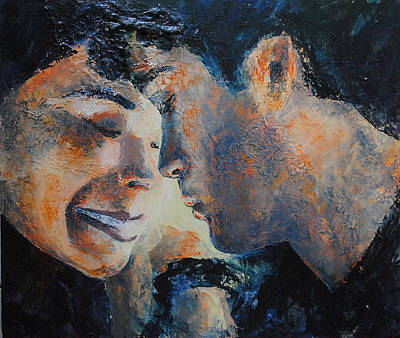 Couple Mixed Media - Complices by Francoise Dugourd-Caput