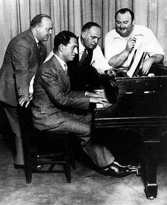 Composer George Gershwin At The Piano Art Print by Everett