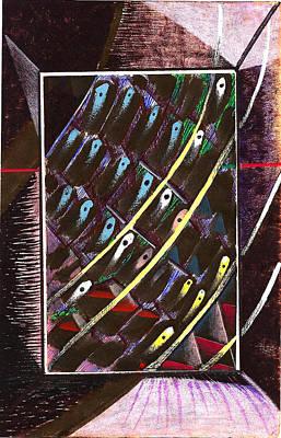 Composition Eleven Art Print by Al Goldfarb
