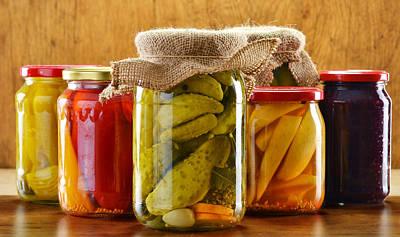 Composition With Jars Of Pickled Vegetables Original