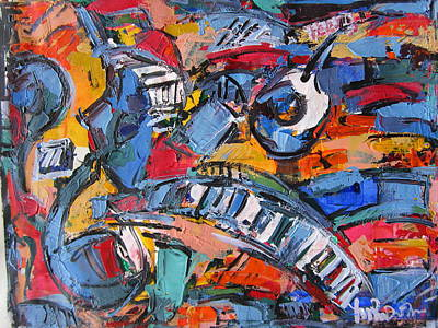 Composition With Music Art Print