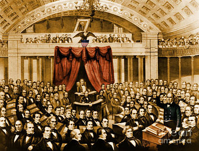 Compromise Of 1850 Art Print by Photo Researchers