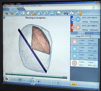 Screenshot Photograph - Computer-aided Diamond Cutting by Ria Novosti