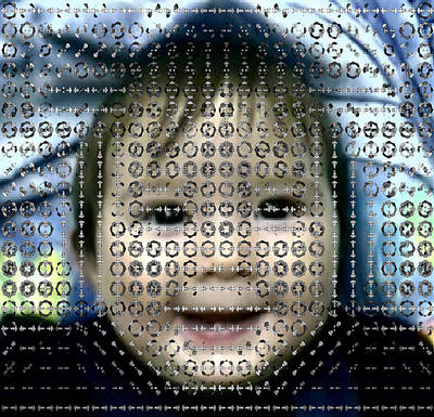 Computer Analysis Of A Smile On A Baby's Face Art Print by Institute For Neural Computation, University Of California