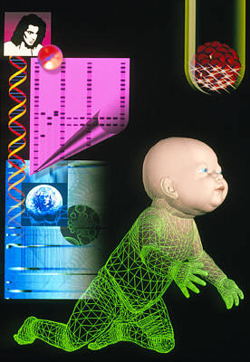 Computer Artwork Depicting Genetic Screening Art Print