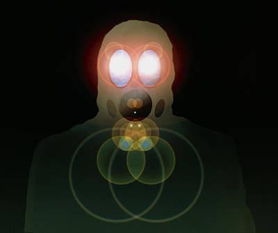 Computer Artwork Of A Figure Wearing A Gas Mask Art Print by Laguna Design