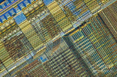 Computer Chip Art Print by Michael W. Davidson